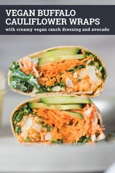 Have you ever tried buffalo cauliflower wings? Try them in these vegan buffalo cauliflower wraps with vegan ranch dressing. They're easy to make and can be made gluten-free. This recipe is perfect for a healthy vegan lunch or try it served with sweet potato fries for a delicious plant-based dinner.