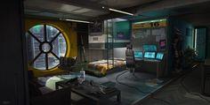 ArtStation - Cyberpunk Room, Adrian Marc