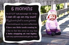 Baby's Monthly MilestonesSubway Art by LittleBlackPress on Etsy, $10.00
