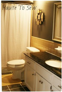 Bathroom Yellow Paint working with ugly yellow tile, fresh paint, cleaning grout, take