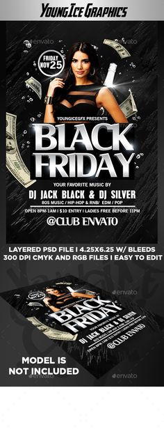 Black Friday sale flyer template Black Friday Flyer Templates - black flyer template