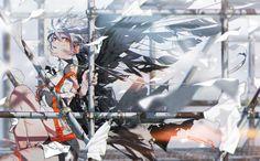 original, wings, fantasy girl / SHE-pixiv Cool Anime Girl, Anime Art Girl, Manga Art, Character Illustration, Illustration Art, Pixiv Fantasia, Anime Style, Yandere, Aesthetic Art