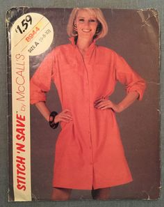 I love this vintage shirtdress pattern.