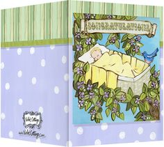 Lullaby baby Congratulations card. Blank inside. Available wholesale or retail:   http://www.violetcottage.com/baby/44-welcome-baby-congratulations-blank-inside-rock-a-bye-baby-in-tree-with-bird.html