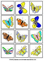 Juf Sanne Lesidee: Vlinders memory