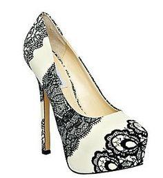 Steve Madden DEJAVU Black White LOVE THESE! Beautiful shoes!!