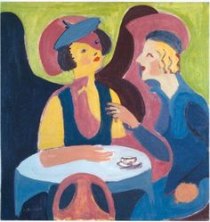 Two Women in a Cafe - Ernst Ludwig Kirchner