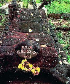 Paul Gauguin's grave in Atuona, Hiva Oa, Marquesas islands, French Polynesia ✯ ωнιмѕу ѕαη∂у