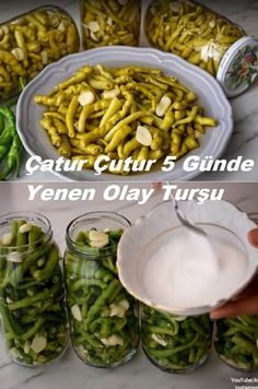 Olay, Turkish Recipes, Pickles, Green Beans, Cucumber, Menu, Cooking Recipes, Vegetables, Istanbul