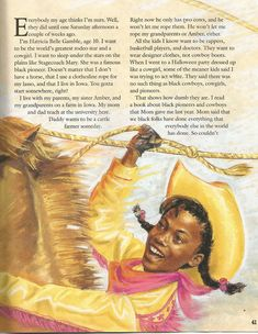 """American Girl Magazine - January 1993/February 1993 Issue - Page 42 (Part 2 of """"Hawkeye Hatty Rides Again"""" - A Story by Eleanora E. Tate)"""