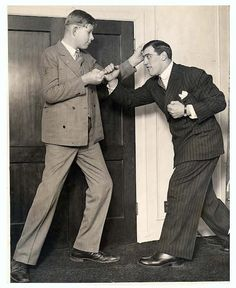 Worlds tallest man Robert Wadlow with World Heavy Weight Champion Primo Carnera