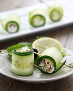 18. Cucumber Feta Rolls #stpatricksday #healthy #green #recipes http://greatist.com/health/healthy-green-recipes-st-patricks-day