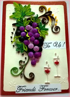 Quilled grapes inspired by Nelika.