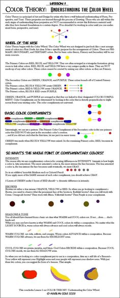 Color Theory Lessons | Lesson 1 : Color Wheel by `Katmomma on deviantART