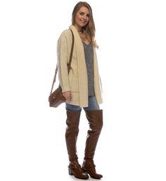 SALE-Ivory Braided Knit Cardigan