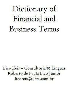 (EN) (PDF) - Dictionary of Financial and Business Terms | Roberto de  Paula  Lico Júnior (GoogleDrive)