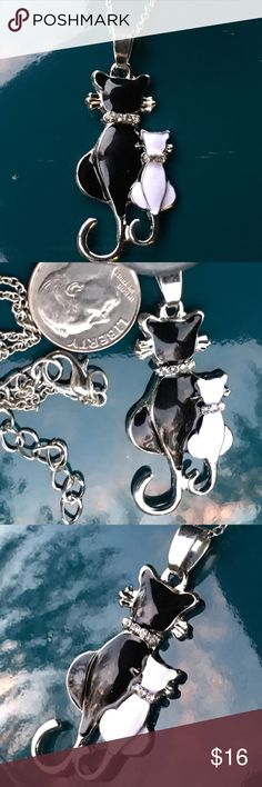 Adorable Kitty  cat pair necklace Cute cat / kitten pendant & chain.  Perfect gift for any cat  lover ❤️️or mother, daughter, sister, friends, cousins, grandmother, granddaughter, aunt or niece. Boutique items are priced firm unless bundled. Jewelry Necklaces
