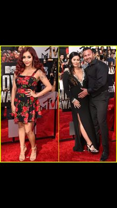 Snookie and jwow at the movie awards.