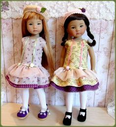 """""""Coquettes """" Green Dress for Effner Little Darling 13"""" Doll   eBay"""