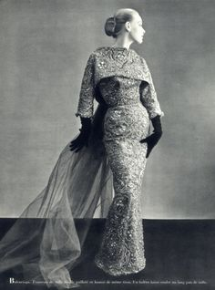Balenciaga 1951 Sequined Tulle Evening Gown