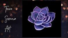Purple Succulent - Super Time Lapse Purple Succulents, Painting Videos, Make It Yourself, Tv, Artwork, Instagram, Work Of Art, Television Set
