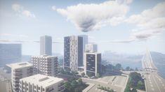 Minecraft Modern City, Minecraft Stuff, San Francisco Skyline, Skyscraper, Building, Travel, Skyscrapers, Viajes, Buildings