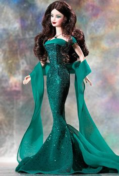 May Emerald Barbie Doll