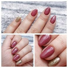 Semilac: 005 Berry Nude, 097 Gold Disco