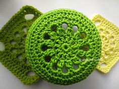 green cover for a glass jar....free pattern!...