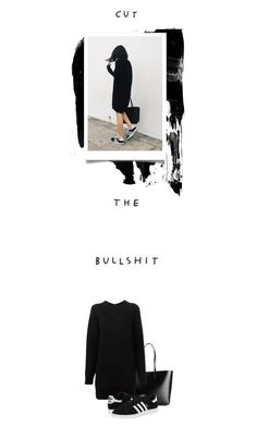 """ˈb ʊ l ʃ ɪ t / - 0 3 6 -"" by hey-anna ❤ liked on Polyvore featuring Yves Saint Laurent, Proenza Schouler and adidas Originals"