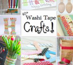 40  Washi Tape Crafts!