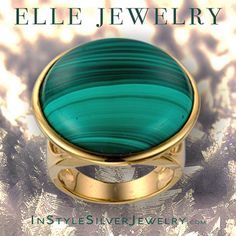 ELLE Jewelry Harmony Collection malachite ring. New for winter 2016.