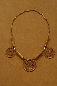 Gold Byzantine Necklace