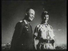 "Hans-Joachim Marseille with Erwin Rommel, during his visit to the JG 27. Rommel said: ""I put on my best clothes for this occasion"" Die Deutsche Wochenschau, 30 September 1942"