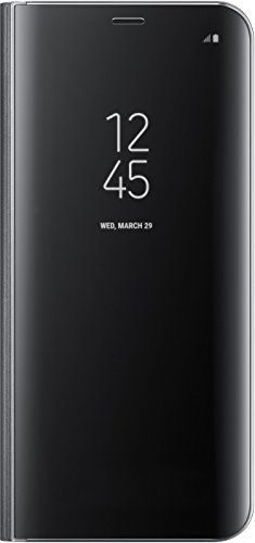 nice Samsung S8 Plus Clear View Standing Cover - Funda para Samsung Galaxy S8 Plus, color negro