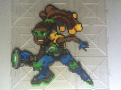 Overwatch: Lucio Perler beads by TehMorrison