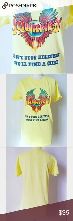 Retro-Inspired Yellow Journey Tee Love this for Spring/Summer Adult size Small 100% cotton  Excellent gently used condition Tops Tees - Short Sleeve