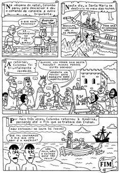 História em quadrinhos: Descobrimento da Ámerica | ALEGRIA EM ENSINAR EDUCAÇÃO