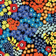 Ditsy Flowers 280816 by ahmetsenel - Colour separated PSD file is included with Extended License Option. Textile Patterns, Textile Prints, Textiles, Print Patterns, Floral Patterns, Surface Pattern, Surface Design, Ditsy Floral, Repeating Patterns