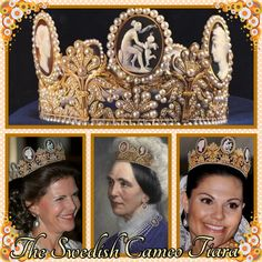 1st June and today's tiara is my favourite, the Swedish Cameo. It belonged to Napoleon's wife, Josephine, and came to Sweden with her granddaughter who would become Queen Josefina. In recent years it has been used as a bridal tiara being worn by Princess Birgitta, Princess Desiree, Queen Silvia and Crown Princess Victoria.