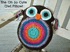 "Free Crochet Pattern For This ""Oh So Cute Owl Pillow!"" (could also be used as a plain old stuffie!)"