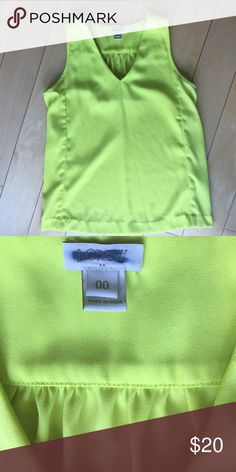 J.Crew Neon Yellow Blouse Make a statement with this like new j.crew neon top! J. Crew Tops