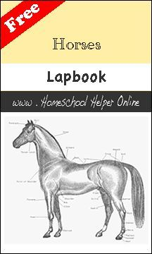 Free Horses Lapbook - Homeschool Helper Online