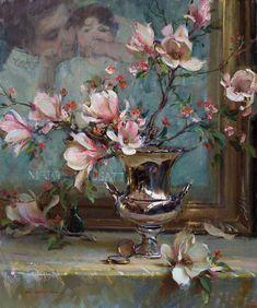 """Mary and Magnolia"" 36 x 30 ~ Daniel Gerhartz Studio"