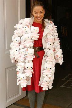 Hello Kitty coat - no Hello Kitties were harmed in making that coat