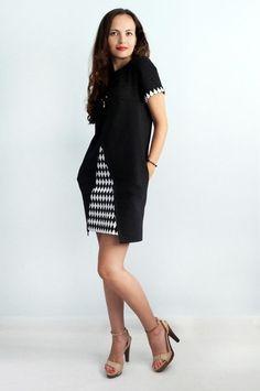 Short Dresses – Women's black and white dress – a unique product by Florinio. Via en.DaWanda.com.