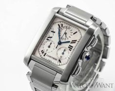 Cartier Tank Francaise ChronoFlex Chronograph - Stainless Steel - Ref. W51001Q3