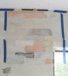 Learn how to stencil a realistic Brick Allover accent wall. http://www.cuttingedgestencils.com/bricks-stencil-allover-pattern-stencils.html