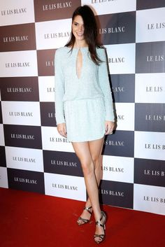 Kendall Jenner attends the Le Lis Blanc winter collection cocktail event at Le Lis Blanc store on May 28, 2015, in São Paulo, Brazil.