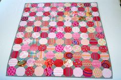 Snowball quilt--on my list to try. pink snowball quilt by drury girl, via Flickr